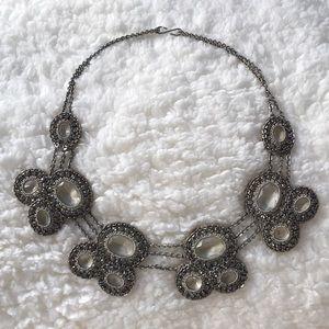 Jewelry - Silver semi precious stone rhinestone necklace